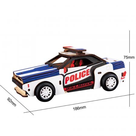Puzzle 3D Police Car [1]