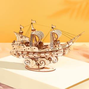 Puzzle 3D Sailing ship [3]