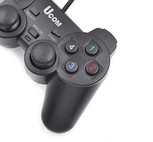 Ucom single dualshock gamepad pentru PC- Negru [0]