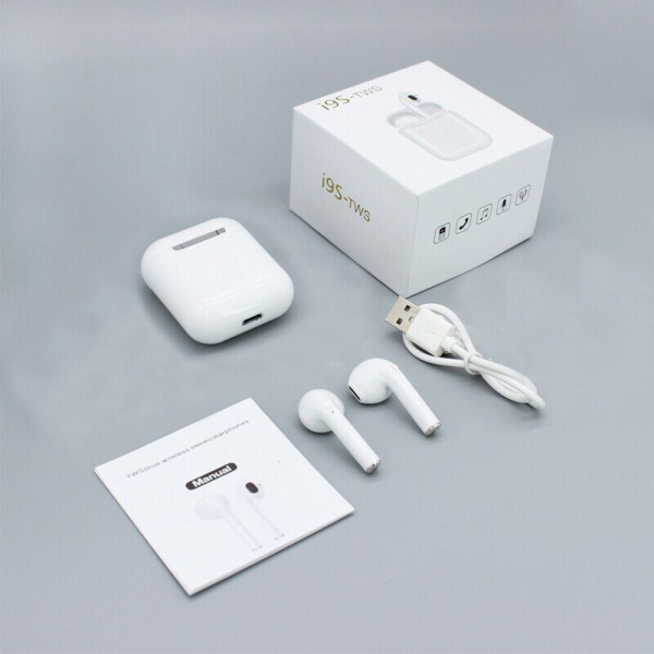Casti True Wireless TWS i9S Bluetooth 5.0 White [1]