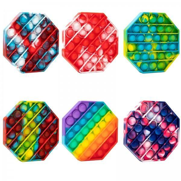 Jucarie POP IT!, antistres, din silicon, hexagon, Multicolor [2]