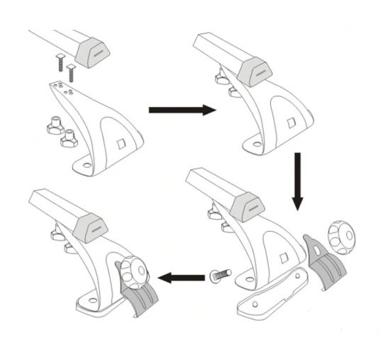 Bare transversasle auto cu prindere la chederul usiilor COD2 [2]