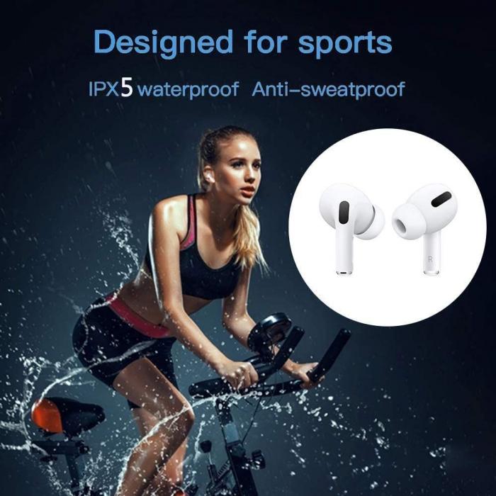 Casti Wireless Usmart Airpods Air Pro ,bluetooth 5.0,muzica 3D, touch control Alb [5]