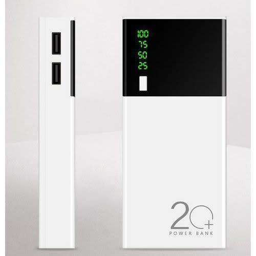 Baterie externa Powerbank Fast Charging LED 12000mAh Alb [0]