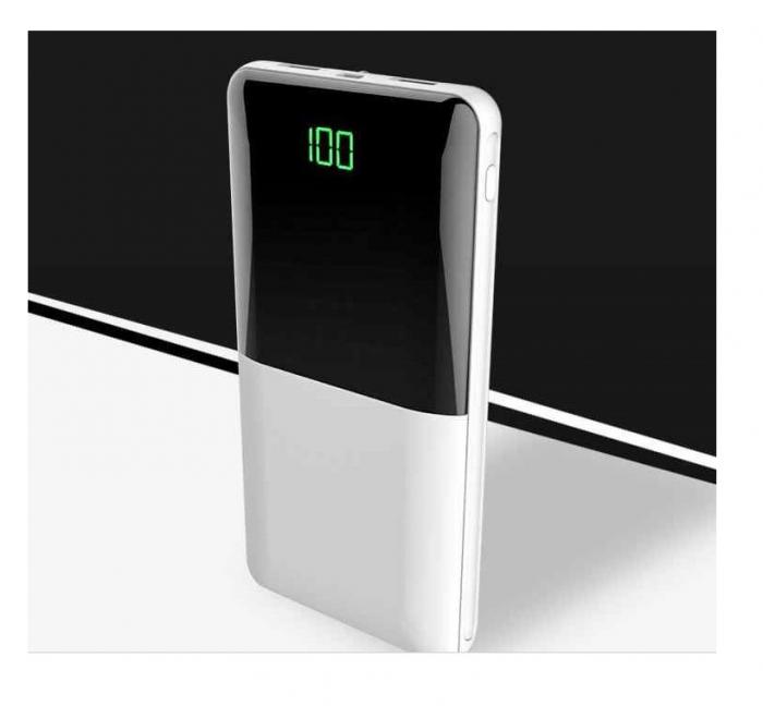 Baterie externa Powerbank Fast Charging LED 18000mAh Alb [0]