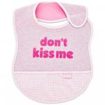Baveta BabyJem din bumbac Dont Kiss Me Pink [1]
