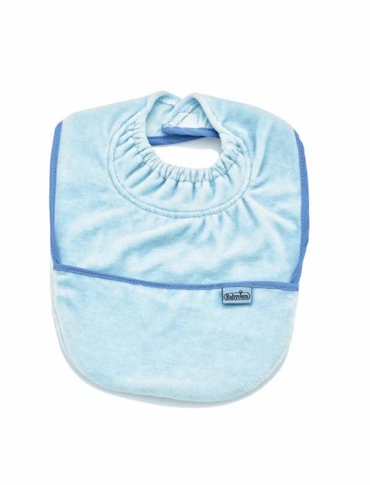 Baveta cu buzunar BabyJem Velvet Blue [0]