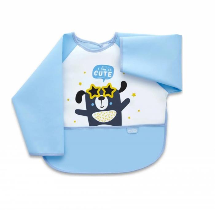 Baveta cu maneci si buzunar BabyJem Polly Bib Blue [0]