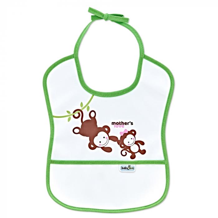 Baveta impermebila pentru copii BabyJem Small Green [0]