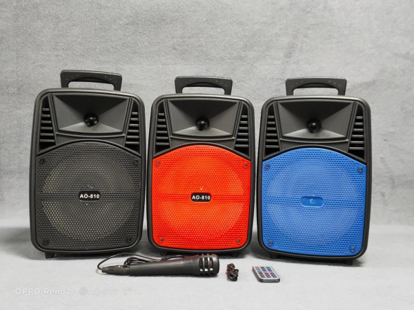 Boxa Activa Portabila 150 W , 8 Inch USB, Radio, Bluetooth,Telecomandă,Albastru [1]