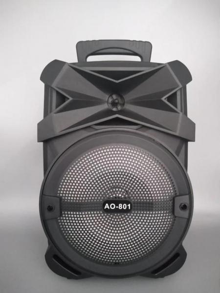 Boxa Activa Portabila 150 W , 8 Inch  USB, Radio, Bluetooth,Telecomandă,Negru [0]