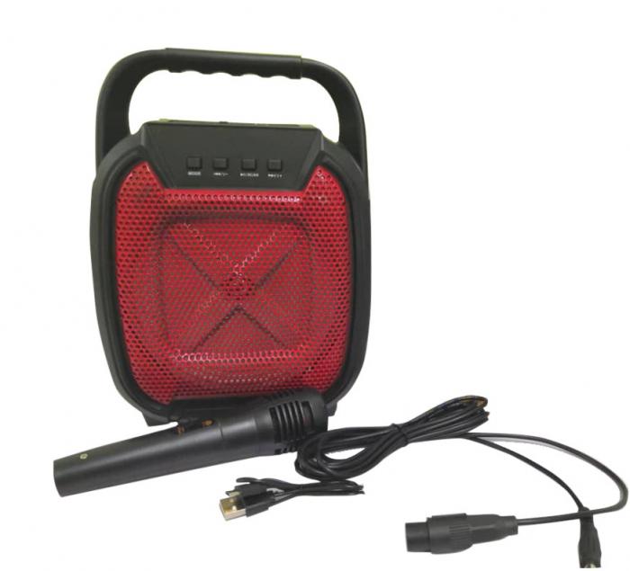 Boxa portabila , lumini LED, Microfon inclus. ZQS 6109 [0]