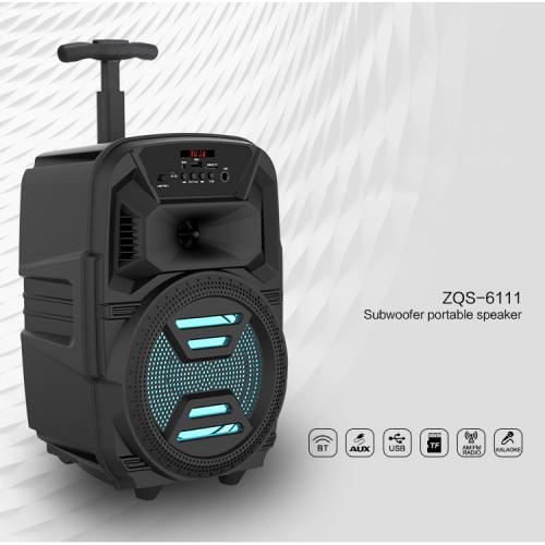 Boxa portabila troler ZQS 6111, 30W P.M.P.O., telecomanda, microfon [1]