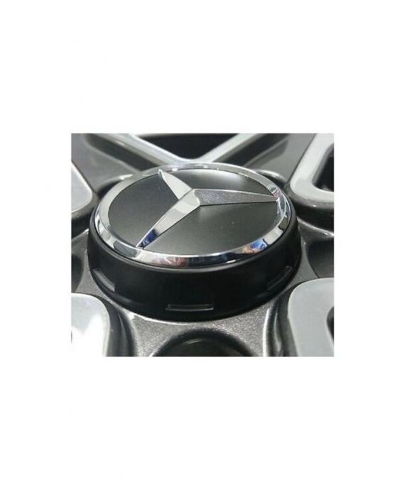 Capac roti 75 mm Mercedes AMG, pentru jante aliaj, Gri [1]