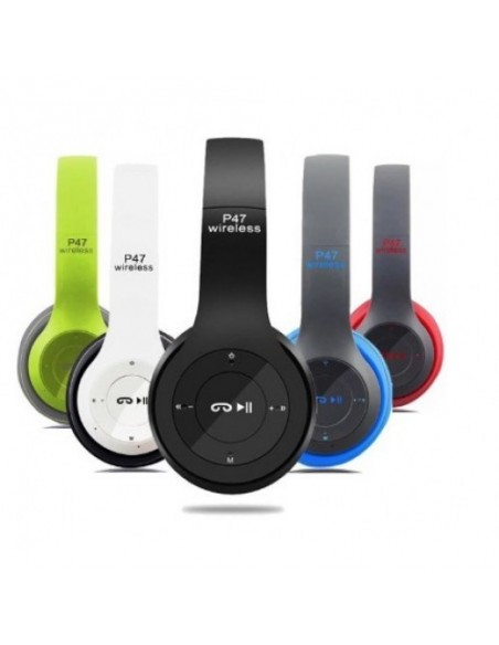 Casti bluetooth cu microfon si radio, pliabile, TF Card/FM Stereo Radio/MP3 Player/Wireless P47 [0]