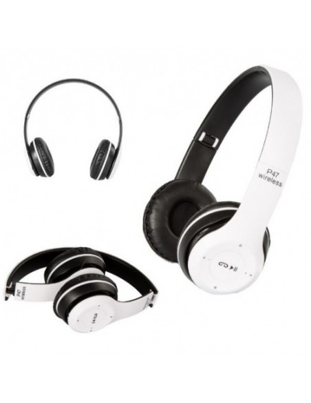 Casti bluetooth cu microfon si radio, pliabile, TF Card/FM Stereo Radio/MP3 Player/Wireless P47 [1]