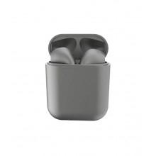 Casti Wi-Fi HD AIX, i12, Wireless, Bluetooth V5.0+, Profesionale, 3D sound, Touch Control Senzor, fast charging, POP-UPS, IPX5, microfon, compatibile cu Bluetooth  Stereo AirPods, Grey [0]