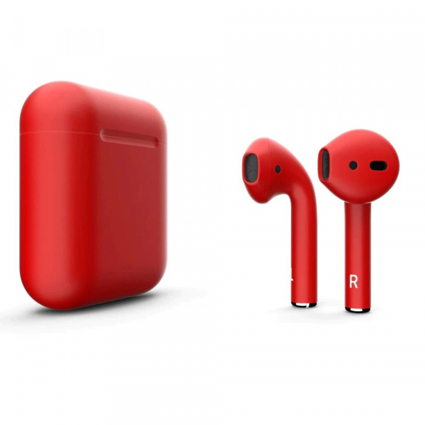 Casti Wi-Fi HD AIX, i12, Wireless, Bluetooth V5.0+, Profesionale, 3D sound, Touch Control Senzor, fast charging, POP-UPS, IPX5, microfon, compatibile cu Bluetooth  Stereo AirPods,Rosu metalizat [1]