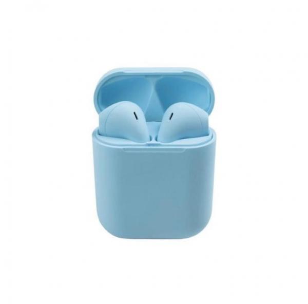 Casti Wi-Fi HD AIX, i12, Wireless, Bluetooth V5.0+, Profesionale, 3D sound, Touch Control Senzor, fast charging, POP-UPS, IPX5, microfon, compatibile cu Bluetooth  Stereo AirPods,Albastru [1]