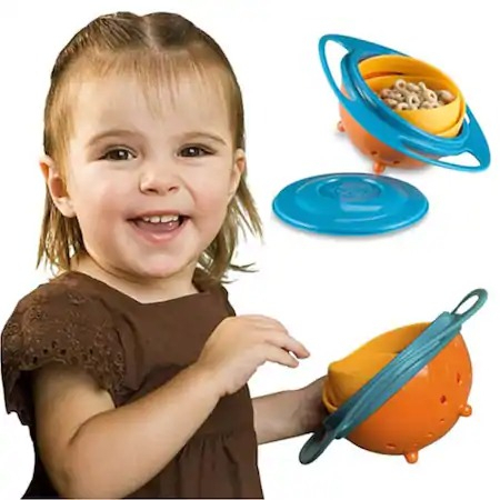 Castron pentru copii cu sistem antirasturnare Gyro Bowl [2]