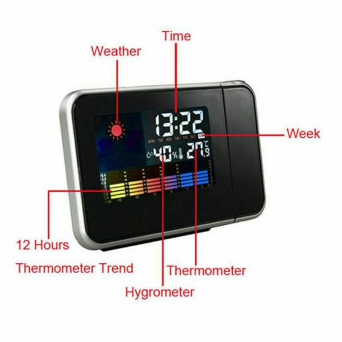 Ceas cu proiectie DS-8190, LCD, alarma [2]