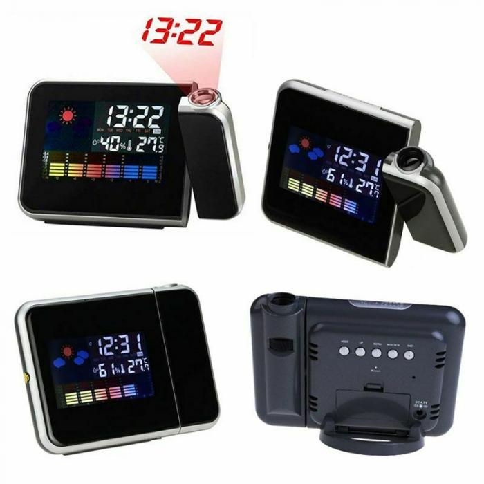 Ceas cu proiectie DS-8190, LCD, alarma [0]