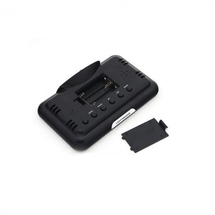 Ceas digital cu Display LCD, Functie termometru, Alarma, Design Modern, Control Vocal [3]