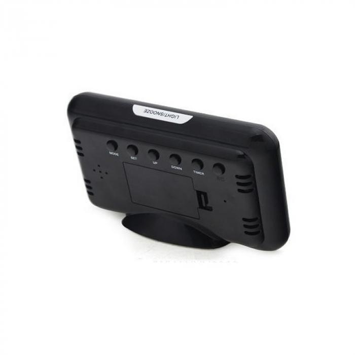 Ceas digital cu Display LCD, Functie termometru, Alarma, Design Modern, Control Vocal [2]