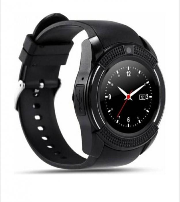 Ceas inteligent Smartwatch T-Smart V8, camera 2 mpx, display 1.3 HD Negru [1]