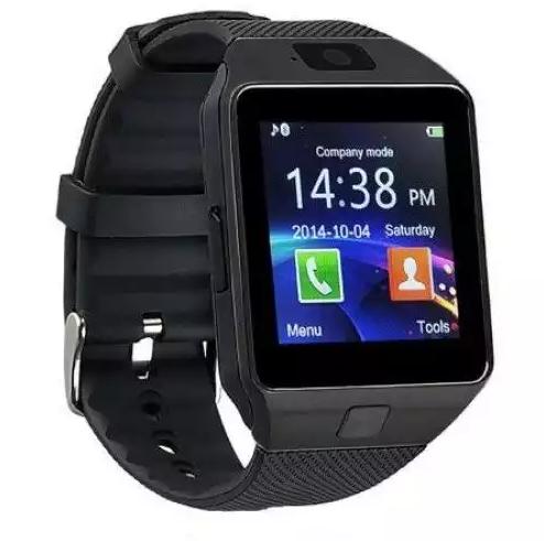 Ceas Smartwatch DZ09, BT, Camera 1.3MP, 1.54 Inch, Negru [0]