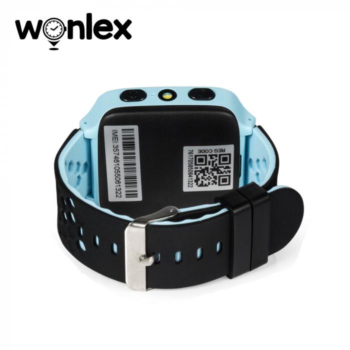 Ceas Smartwatch Pentru Copii Wonlex GW500s cu Functie Telefon, Localizare GPS, Camera, Lanterna, Pedometru, SOS – Albastru [1]