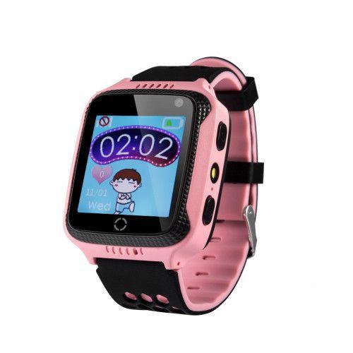 Ceas Smartwatch Pentru Copii Wonlex GW500s cu Functie Telefon, Localizare GPS, Camera, Lanterna, Pedometru, SOS –Roz [0]