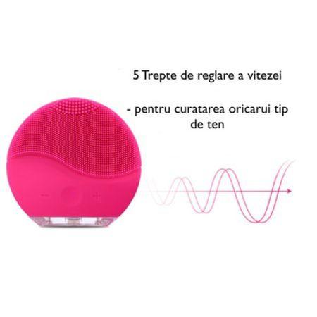 Dispozitiv curatare faciala si masaj Forever, mini, baterie reincarcabila, hipoalergenic, [1]