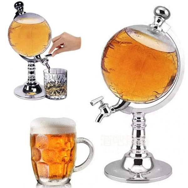 Dozator Barste in forma de Glob Pamantesc, pentru orice tip de bauturi, 3,5 L [0]
