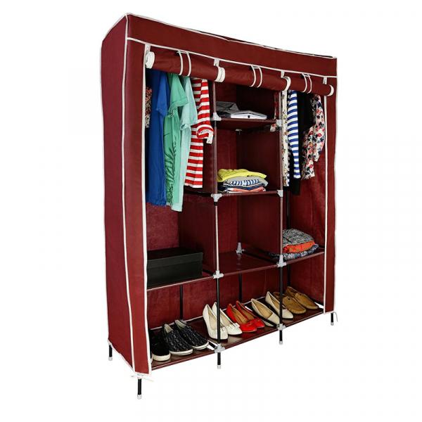 Dulap textil Storage Warderobe 26135B, 130 x 45 x 175 cm, 8 rafturi [1]