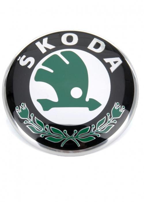 Emblema capota/hayon/portbagaj Skoda 85mm, Octavia, Fabia, Roomster [0]