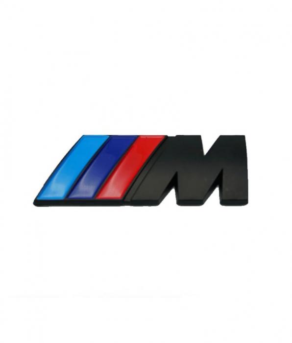 Emblema M Power pentru BMW, 53mm x 20mm crom [0]
