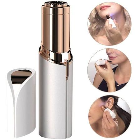 Epilator facial, Trimmer Flawless Skin, Aparat portabil pentru indepartarea parului facial cu LED- Flawless Finishing Touch - Alb/ Alaska White [3]