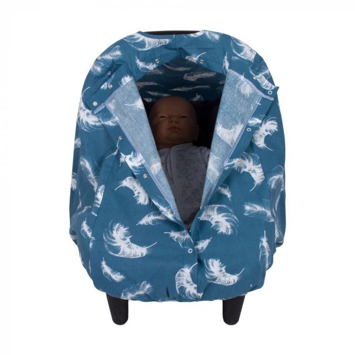 Husa protectie scaun auto Sevibebe Dandelion Blue [0]