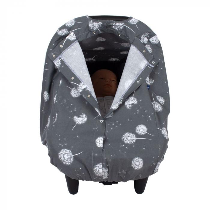 Husa protectie scaun auto Sevibebe Dandelion Grey [0]