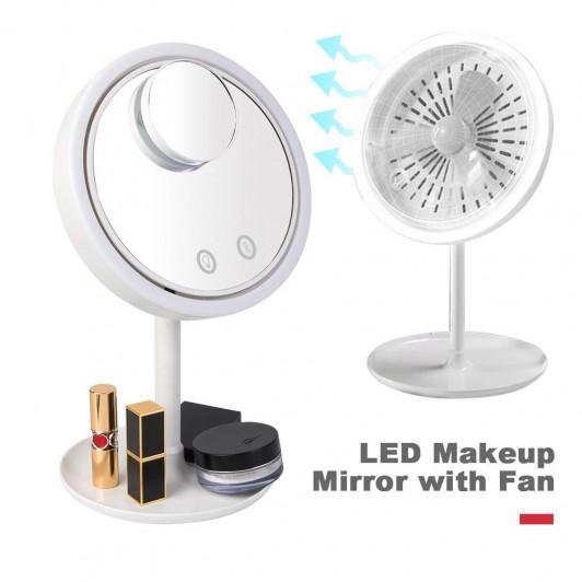 Oglinda make-up cu led, ventilator si functie touch [0]