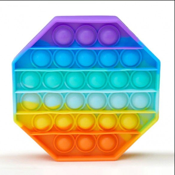 Jucarie POP IT!, antistres, din silicon, hexagon, Multicolor [0]