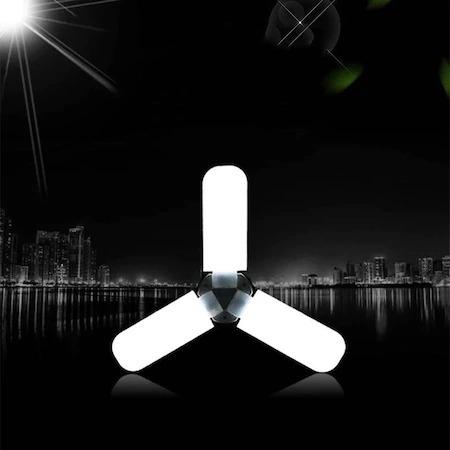 Lampa pliabila LED, tip elice, cu 3 brate, 45 w, soclu E27, clasa energetica A, long life 40000 h [8]