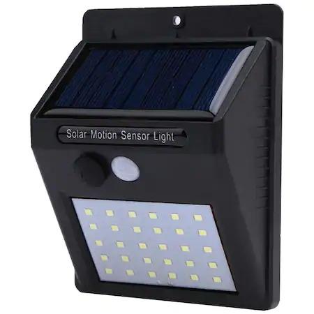 Lampa solara de perete cu senzor de lumina si miscare cu 30 leduri [2]