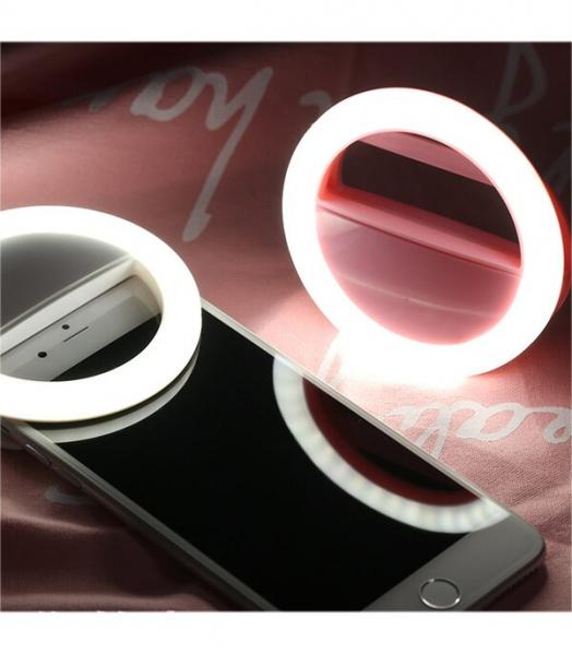 Inel luminos pentru selfie Accesoriu LED tip clips pentru telefon [0]