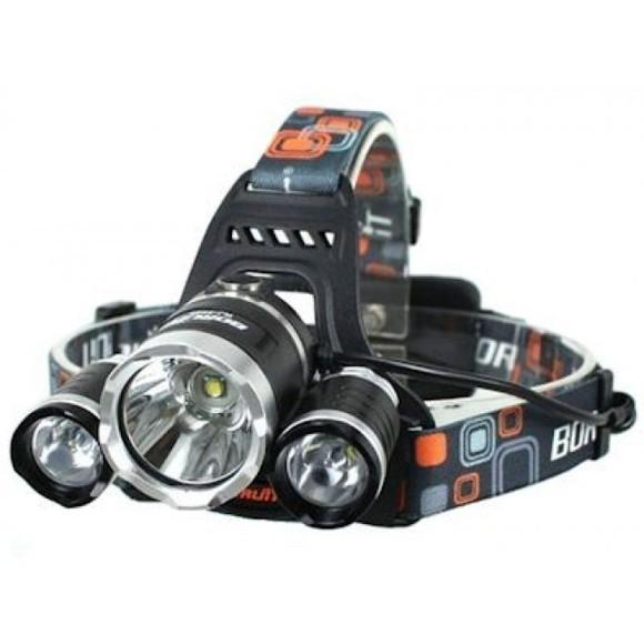 Lanterna de cap cu 3 led-uri, waterproof, cu lumina puternica [1]