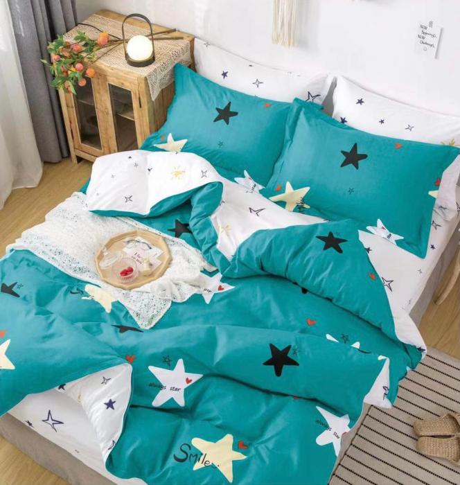 Lenjerie de pat, 6 piese,High quality, pentru 2 persoane  bumbac 100% [0]