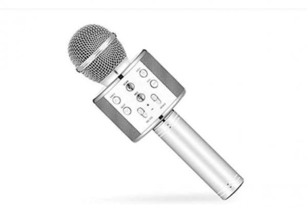Microfon Wireless Kararoke WS-858 Silver [0]