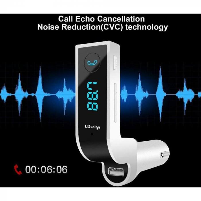 Modulator FM Bluetooth , USB , Card MicroSD , Ecran LCD [2]