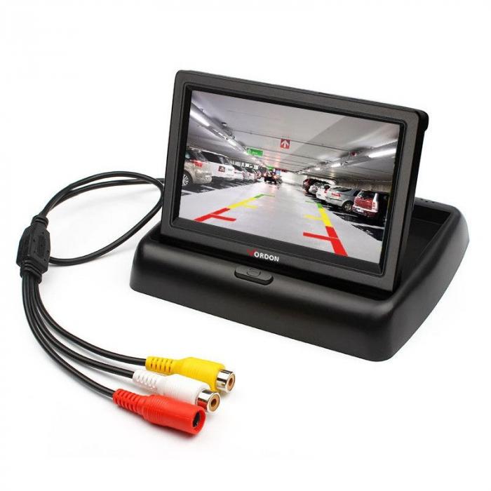 """Monitor Pliabil Video LCD TFT Led Marsarier 4,3"""" ,Cablaj inclus,12V [0]"""